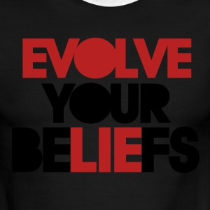 Evolve your beliefs - Men's Ringer T-Shirt