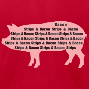 Bacon Strips - Men's T-Shirt by American Apparel