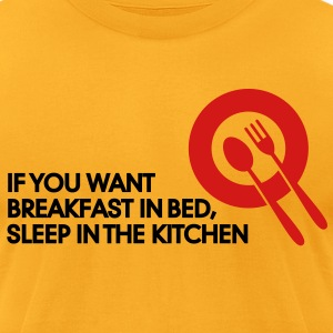 Breakfast In Bed 2 (2c)++ T-Shirts - Men's T-Shirt by American Apparel