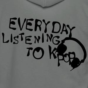 Everyday listening to KPOP Unisex Fleece Zip Hoodie by American Apparel - Unisex Fleece Zip Hoodie by American Apparel