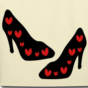 Red Hearts Sexy high heel shoes Eco-Friendly Cotton Tote - Eco-Friendly Cotton Tote