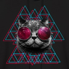 3D Space Cat Hoodie (Mens)