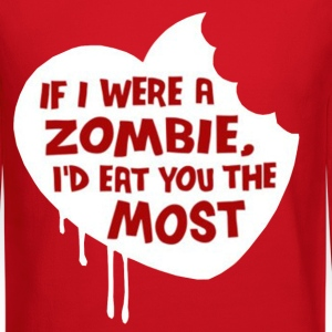 If i were a zombie... Long Sleeve Shirts - Crewneck Sweatshirt