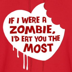 If i were a zombie... Hoodies - Men's Hoodie