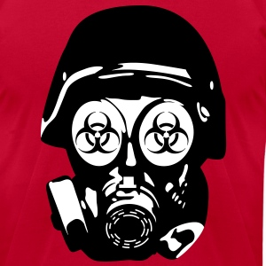 Gasmask 2 vec T-Shirts - Men's T-Shirt by American Apparel