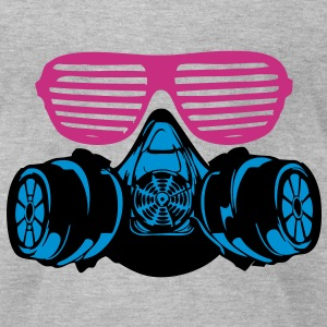 Gasmask 4 vec T-Shirts - Men's T-Shirt by American Apparel