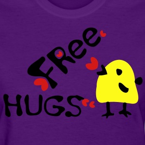 Free Hugs yellow bird Women's Standard Weight T-Shirt - Women's T-Shirt
