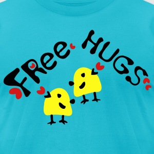 Free Hugs Yellow bird Men's T-Shirt by American Apparel - Men's T-Shirt by American Apparel