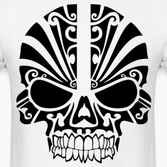 Tribal Skull HD Vector T-Shirts