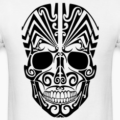 Tribal Skull 2 HD Vector T-Shirts