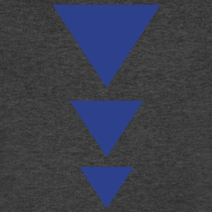 Three triangles down  T-Shirts - Men's V-Neck T-Shirt by Canvas