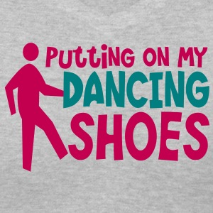 PUTTING ON MY DANCING SHOES man dance humor Women's T-Shirts - Women's V-Neck T-Shirt