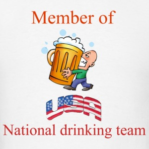 member of USA  drinking team - Men's T-Shirt