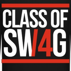 CLASS OF SWAG/14 (RED WITH BANDS)  Long Sleeve Shirts