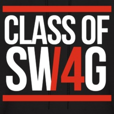 CLASS OF SWAG/14 (RED WITH BANDS)  Hoodies