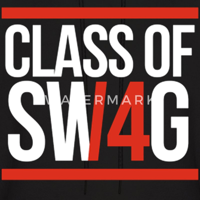 CLASS OF SWAG/14 (RED WITH BANDS)  Hoodies - Men's Hoodie