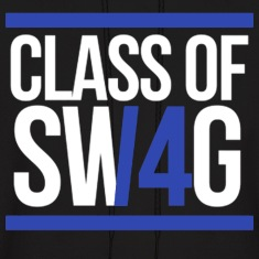 CLASS OF SWAG/14 (BLUE WITH BANDS)  Hoodies