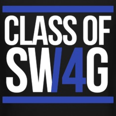 CLASS OF SWAG/14 (BLUE WITH BANDS)  Long Sleeve Shirts