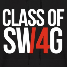 CLASS OF SWAG/14 (RED WITH NO BAND)  Hoodies