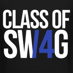 CLASS OF SWAG/14 (BLUE WITH NO BAND)  Long Sleeve Shirts
