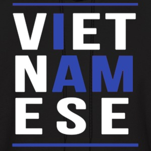 I AM VIETNAMESE (blue with bands) Hoodies - Men's Hoodie