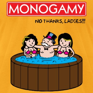 Monogamy 2 T-Shirts - Men's T-Shirt by American Apparel