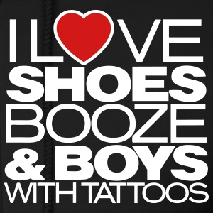 I LOVE SHOES BOOZE & BOYS WITH TATTOOS Zip Hoodies/Jackets - Men's Zip Hoodie