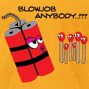Blowjob T-Shirts - Men's T-Shirt by American Apparel