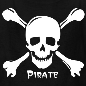 pirate skull jolly rogers Kids' Shirts - Kids' T-Shirt