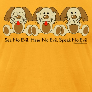 See No Evil Puppies - Men's T-Shirt by American Apparel