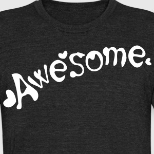 Awesome Men's Tri-Blend Vintage T-Shirt by American Apparel - Unisex Tri-Blend T-Shirt by American Apparel