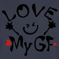 Love My GF Men's V-Neck T-Shirt by Canvas