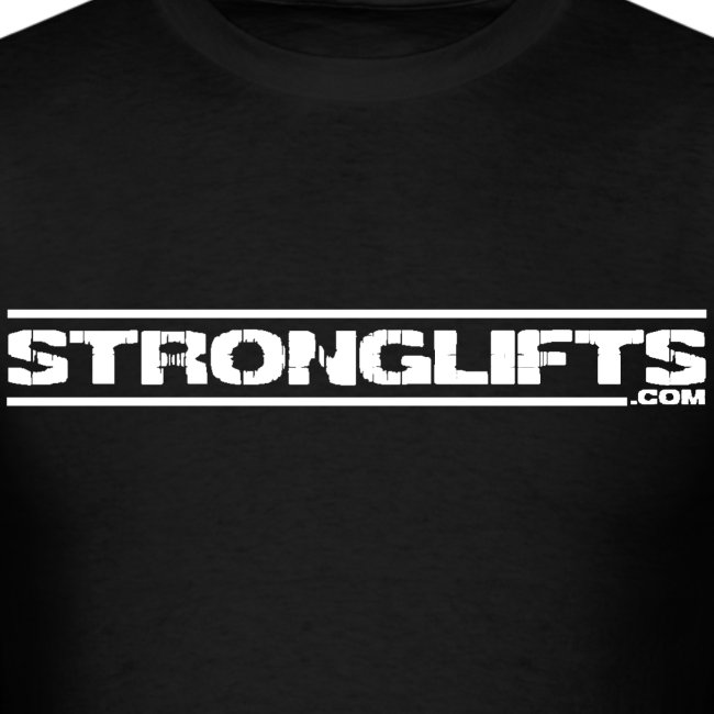 """StrongLifts """"Barbell Goes Here"""" Black T-shirt"""