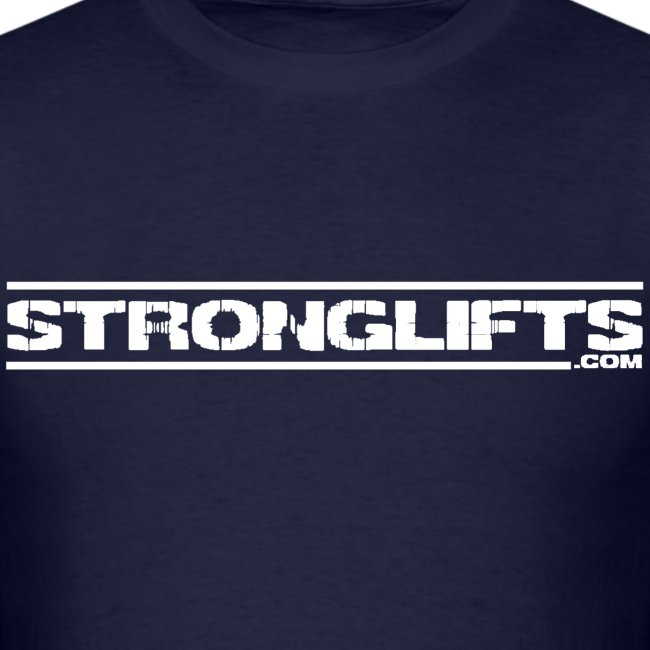 """StrongLifts """"Barbell Goes Here"""" Navy T-shirt"""