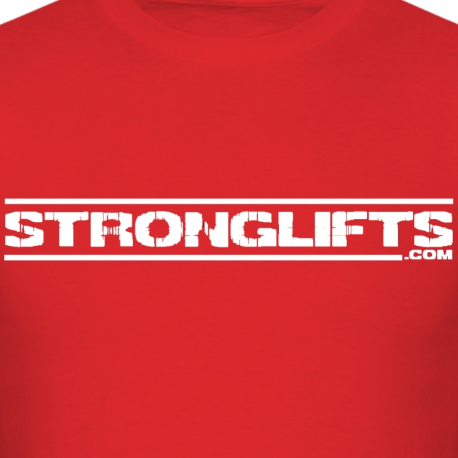 """StrongLifts """"Barbell Goes Here"""" Red T-shirt"""