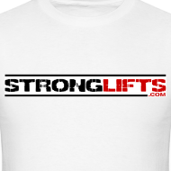 Design ~ StrongLifts White T-shirt Without Slogan