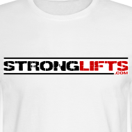 Design ~ StrongLifts Long Sleeve T-shirt White Without Slogan