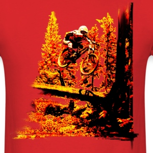 Mountain bike log jump - Men's T-Shirt