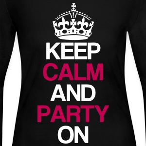 Keep Calm And Party On Long Sleeve Shirts - Women's Long Sleeve Jersey T-Shirt