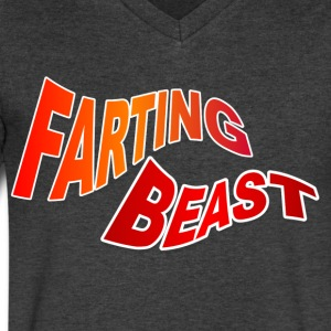 Farting Beast - Men's V-Neck T-Shirt by Canvas