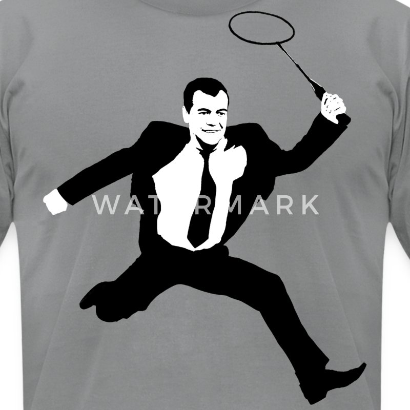 Russian President Dmitry Medvedev - Men's T-Shirt by American Apparel