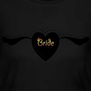 Bride Pride - Heart and Wings  Text Graphic Cool Design for Bachelorette Parties, Hen Party, Stag and Does, Bridal Party and Wedding Showers Long Sleeve Shirts - Women's Long Sleeve Jersey T-Shirt