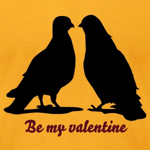 Valentines Dove Couple_2_1c T-Shirts - Men's T-Shirt by American Apparel