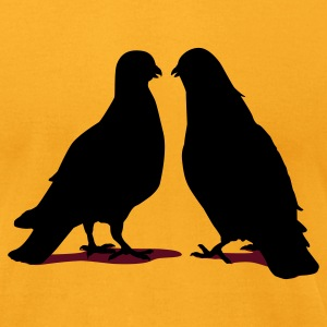 Valentines Dove Couple_2_2c T-Shirts - Men's T-Shirt by American Apparel