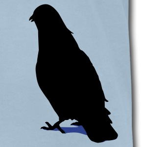 Valentines Dove male 2c T-Shirts - Men's T-Shirt by American Apparel