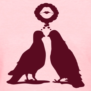 Kiss thinking  Doves - Two Valentine Birds_1c Women's T-Shirts - Women's T-Shirt