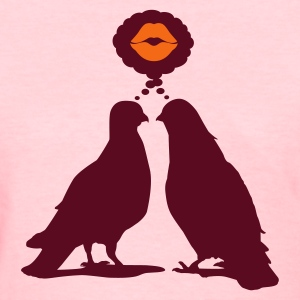 Kiss thinking  Doves - Two Valentine Birds_2c Women's T-Shirts - Women's T-Shirt