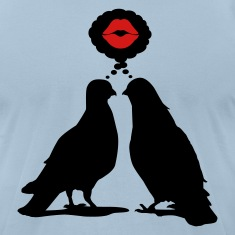 Kiss thinking  Doves - Two Valentine Birds_2c T-Shirts
