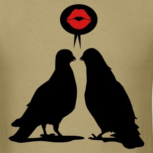 Kiss saying  Doves - Two Valentine Birds_2c T-Shirts - Men's T-Shirt