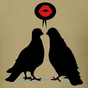 Kiss saying  Doves - Two Valentine Birds_3c T-Shirts - Men's T-Shirt